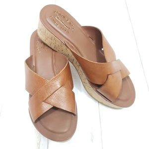 Kork Ease Lana Wedge Sandal in Buff  Sz 7M